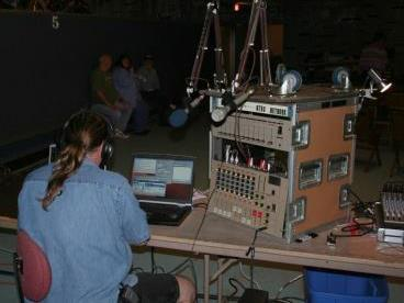 Online Streaming Event Tech Out Before the Show - Buddy Holly Tribute 50th Anniversary Show In Rhinelander, WI.. 200 Terestial Stations & an unknown # of Internet IP Listeners tuned in to this program.  Can we help bring those listeners to you?  715-490-2300